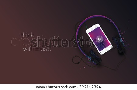 music concept illustration with
