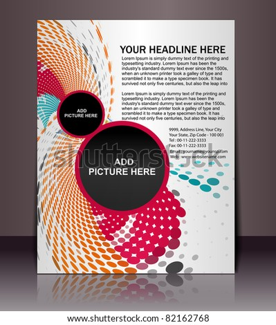 Music concept poster/flyer Design template elements