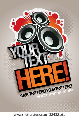 Music concept poster template. Elements are layered separately in vector file. Easy editable graphics. CMYK color mode.