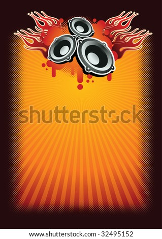 Music concept poster template. Separated layers in vector file.