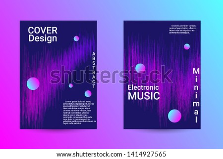 Music Cover design. A set of modern abstract backgrounds. Abstract party posters. Futuristic wave patterns are distorted with dotted lines. Techno Music Festival Advertising. Dance party background.