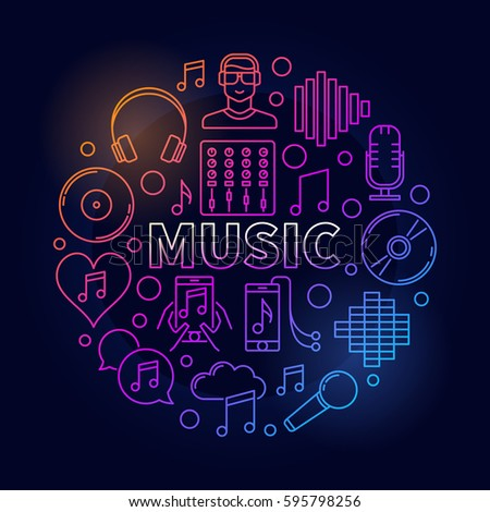 music dark round illustration