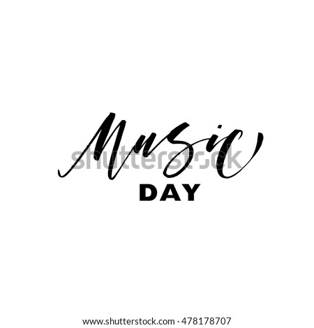 music day card hand drawn