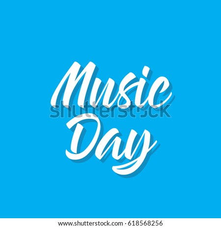 music day  text design vector
