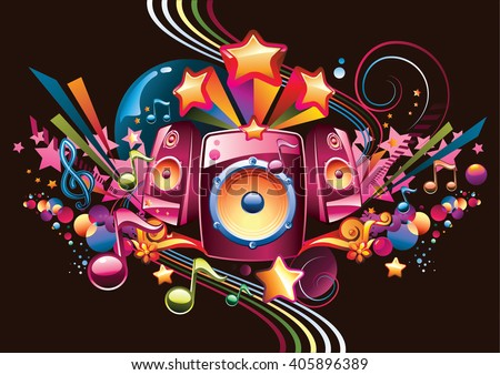 music design   bright speakers
