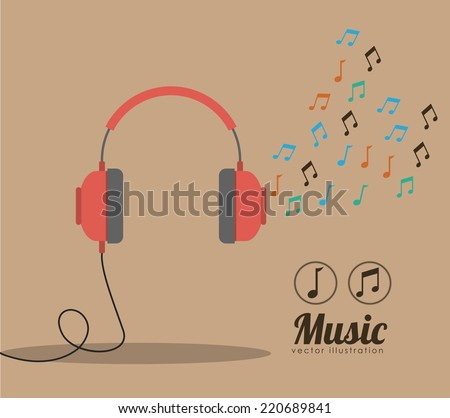 music design over brown
