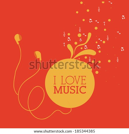 music design over red