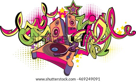 music design   turntable and
