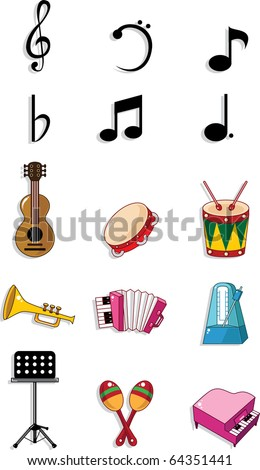 music doodle - stock vector