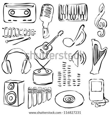 music doodle images