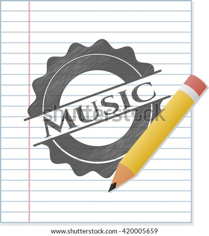 Music drawn with pencil strokes
