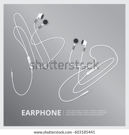 Music Earphones vector illustration