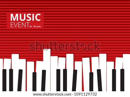 music event piano poster