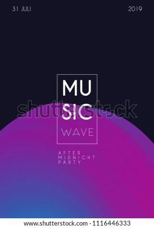 Music fest poster. Party background for Banner, Poster, Brochure and Flyer. Abstract gradients waves background.