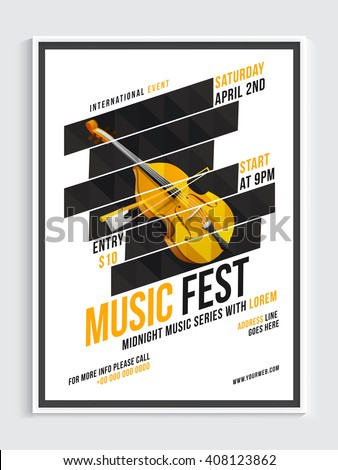 music fest template  banner or