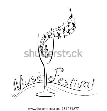 music festival logo silhouette