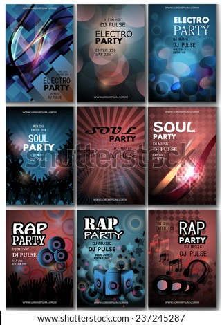 music flyer template   vector