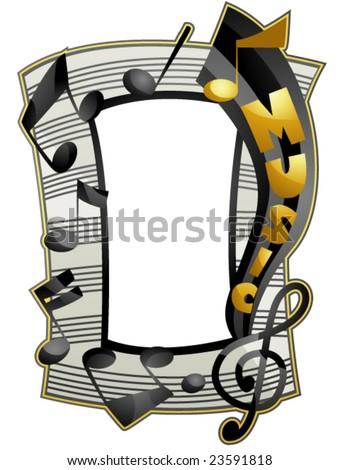 Music Frame - Vector