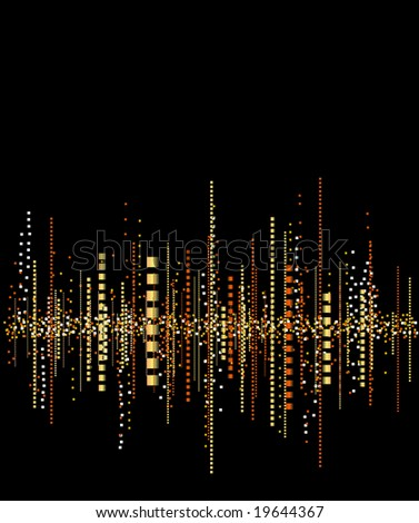 Music frequencies background