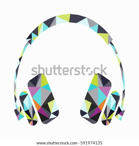 music from the headphones