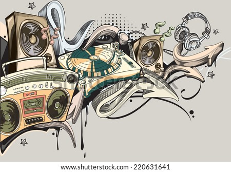 Music graffiti