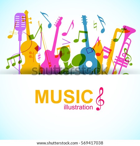 music graphic template with