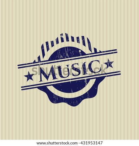 Music grunge seal