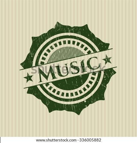 Music grunge stamp