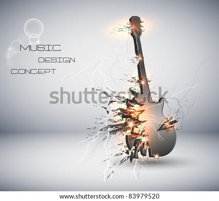 music guitar explosive