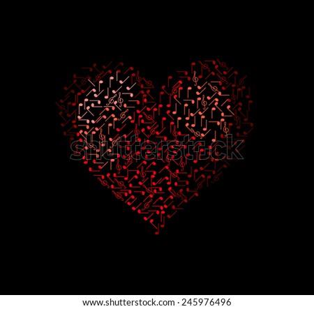music heart we love music