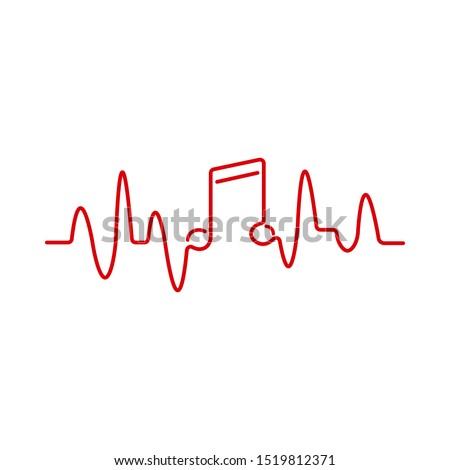 music heartbeat  pulse line