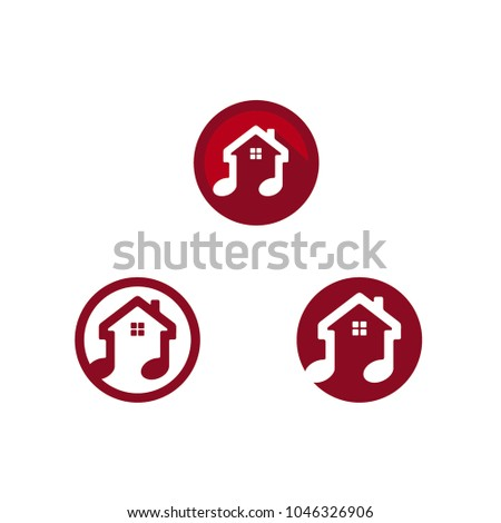 Music House Icon / logo design inspiration