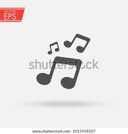 Music Icon. Audio sound media musical Design Elements From Music Staff .Note symbol for your web site design, logo, app, UI. Vector illustration, EPS10. Melody play music sign.