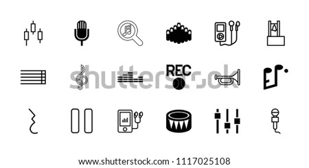 music icon collection of 18