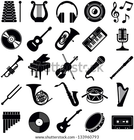 music icon collection   vector...