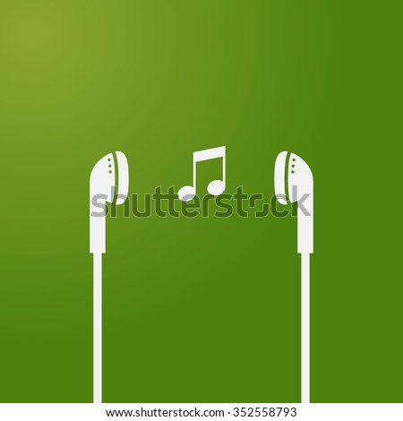 music icon headset earphone