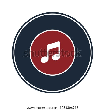 Music icon in circle