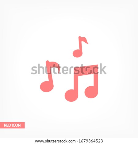 Music Icon in trendy flat style isolated on background. Note symbol for your web site design, logo, app, UI. Vector Music illustration, EPS 10 Music melody .