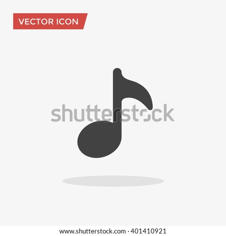 Music Icon in trendy flat style isolated on grey background. Note symbol for your web design, logo, UI. Vector illustration, EPS10.