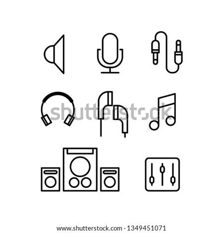 music icon line art