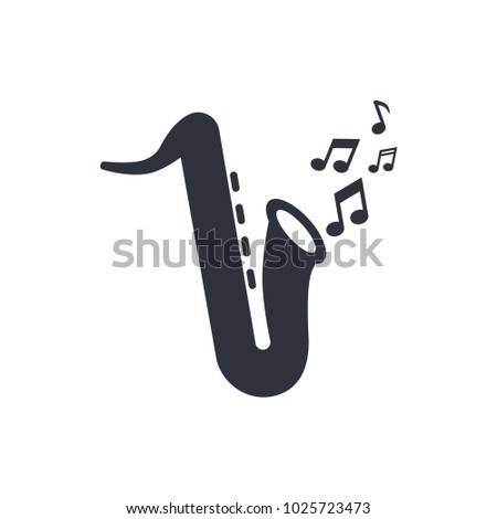 music icon saxophone icon vector