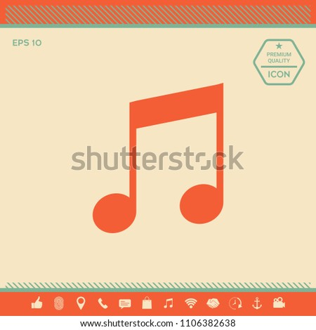 Music icon symbol