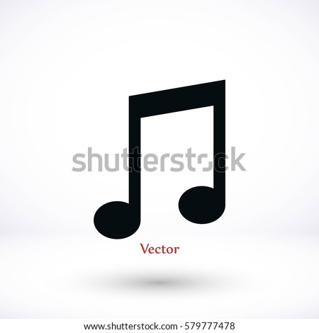 Music Icon, Vector EPS 10 illustration style