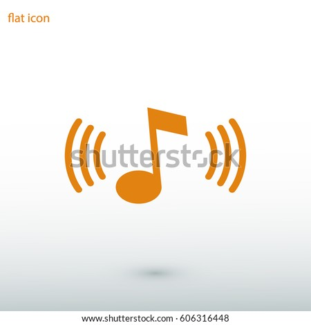 Music icon, vector illustration. Flat design eps 10