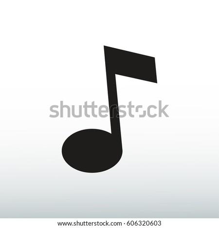 Music icon, vector illustration. Flat design eps 10