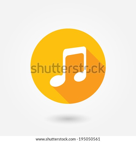 Music icon, vector illustration. Flat design style