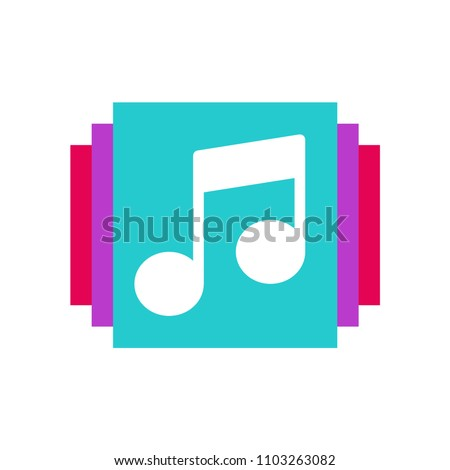 Music icon. Vector illustration. life music.