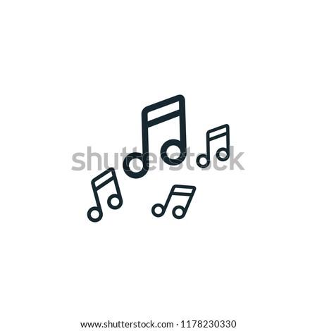 music icon vector logo template