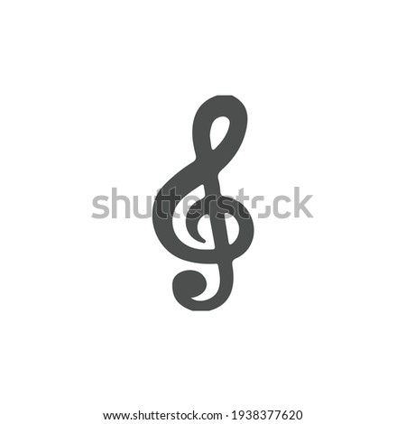 Music icon vector, Melody, song, note, sound, audio sign Isolated on white background. Trendy Flat style for graphic design, logo, Web site, social media, UI, mobile app, EPS10 Stock photo ©