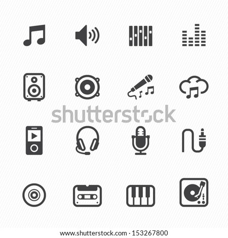 music icons with white